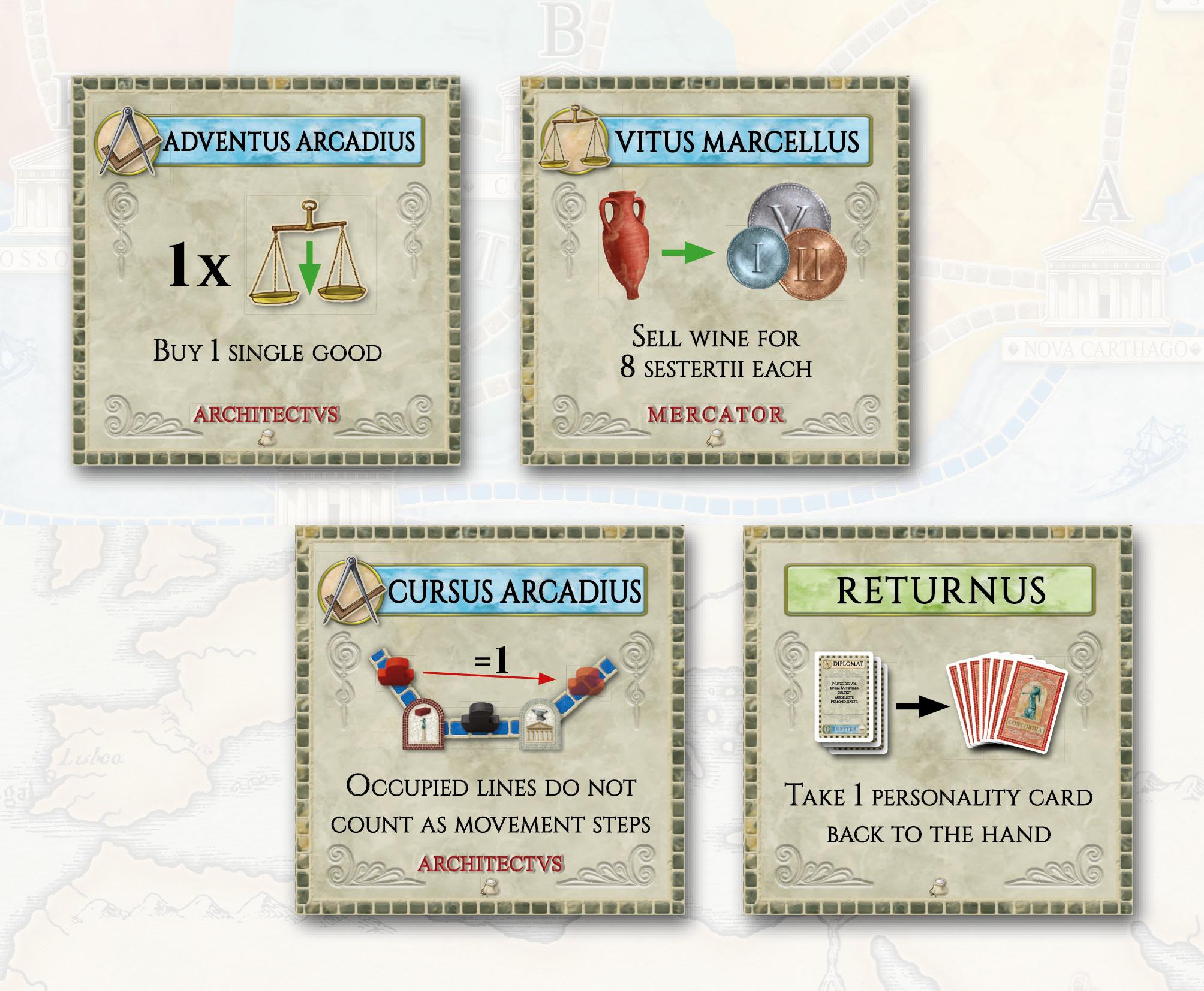 Concordia: 8 Forum Cards