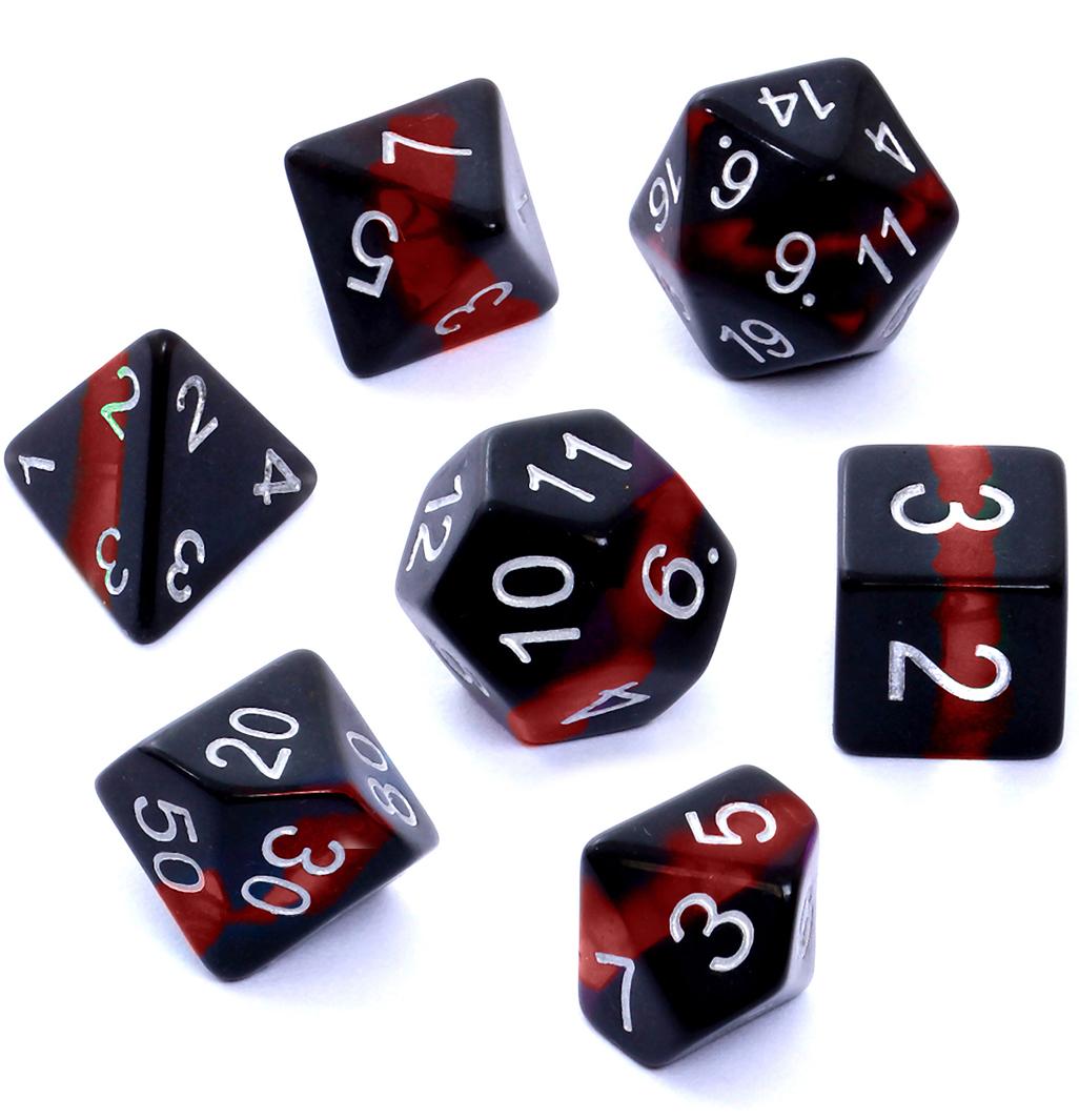 Komplet kości REBEL RPG - Minerały - Rubin