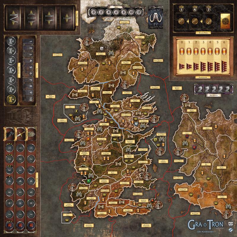 Mata do gry planszowej Gra o Tron