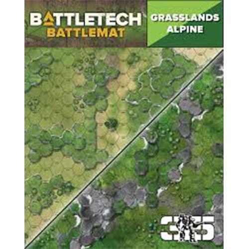 BattleTech Neoprene Battle Mat Grasslands Alpine