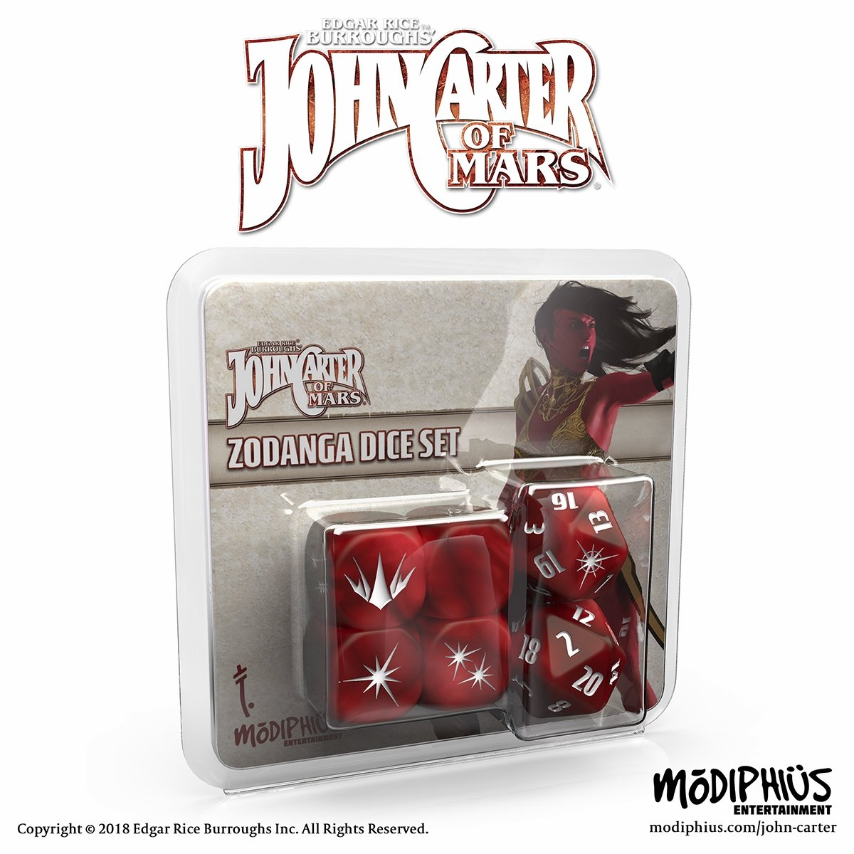John Carter of Mars Adventures Zodanga Dice (red)