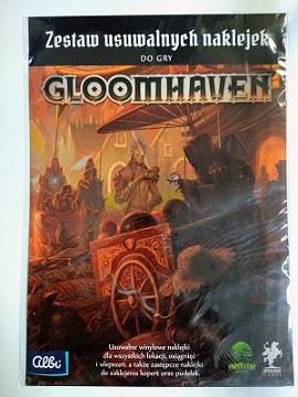 Gloomhaven - zestaw usuwalnych naklejek do gry
