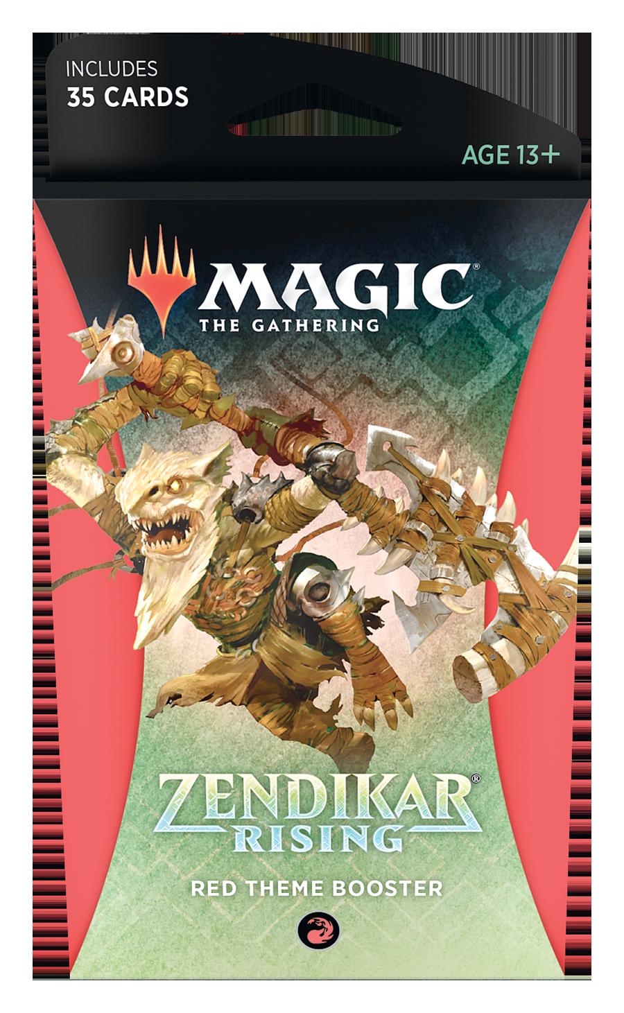 Magic The Gathering: Zendikar Rising - Red Theme Booster