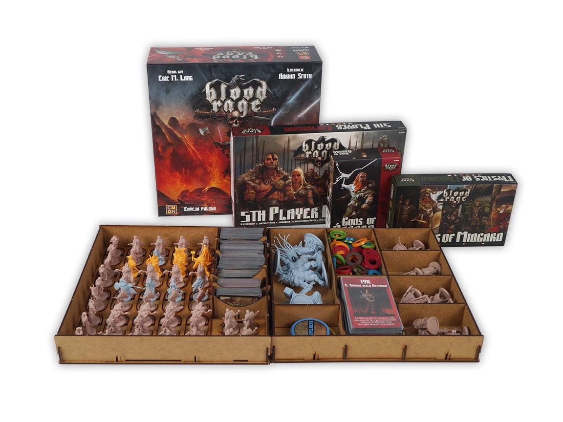 Insert Blood Rage + 5 gracz + Bogowie Asgardu + Mistycy z Midgar
