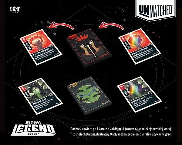 Unmatched Bitwa Legend karty