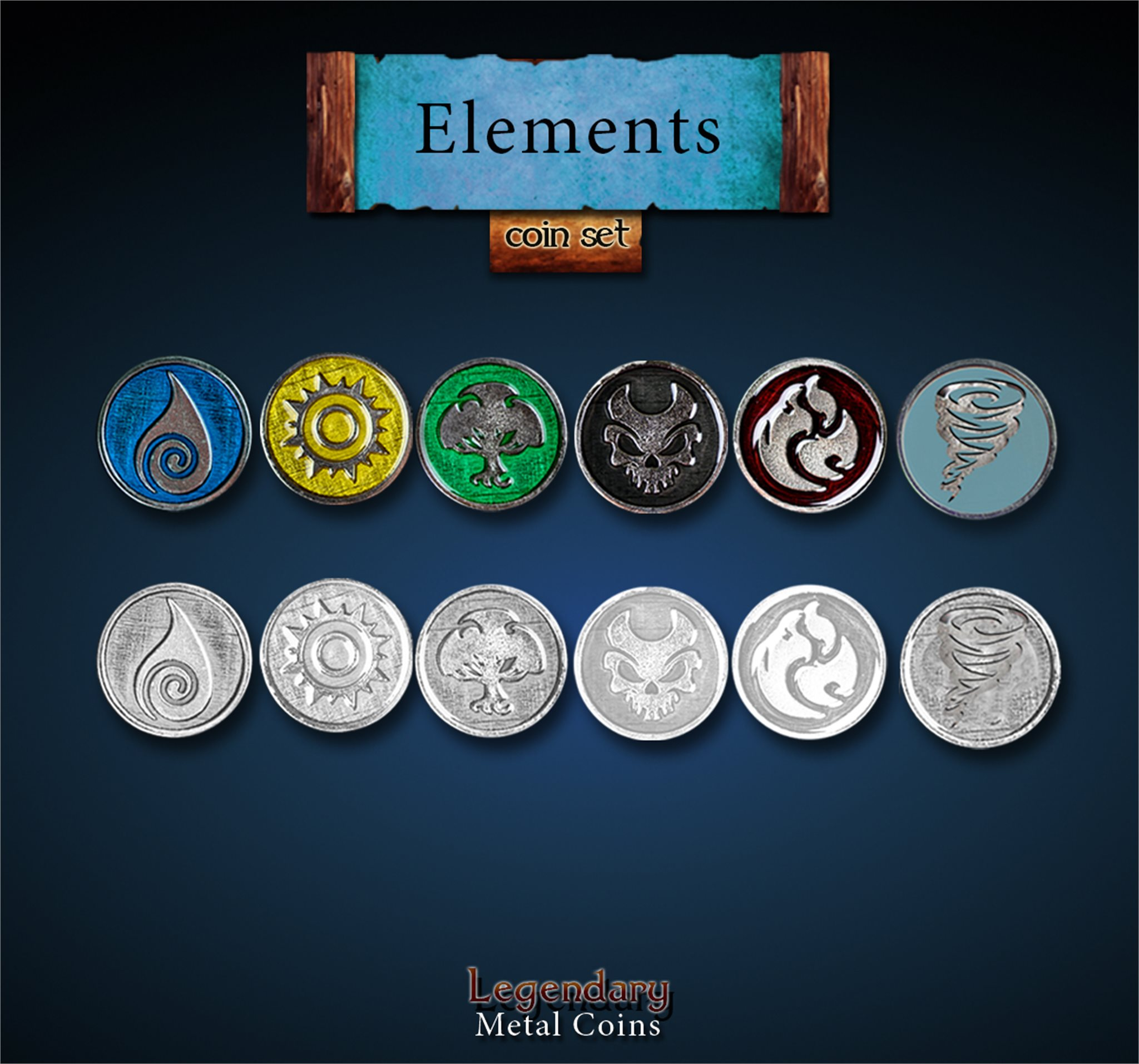 Gloomhaven Elements Pack all 6 Elements
