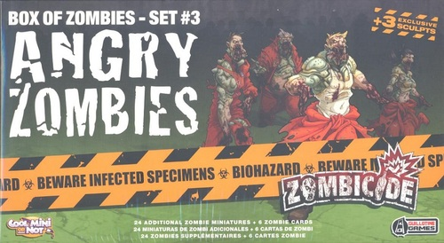 Box of Zombie Set #3 Angry Zombies