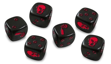 Zombicide Dice - Black